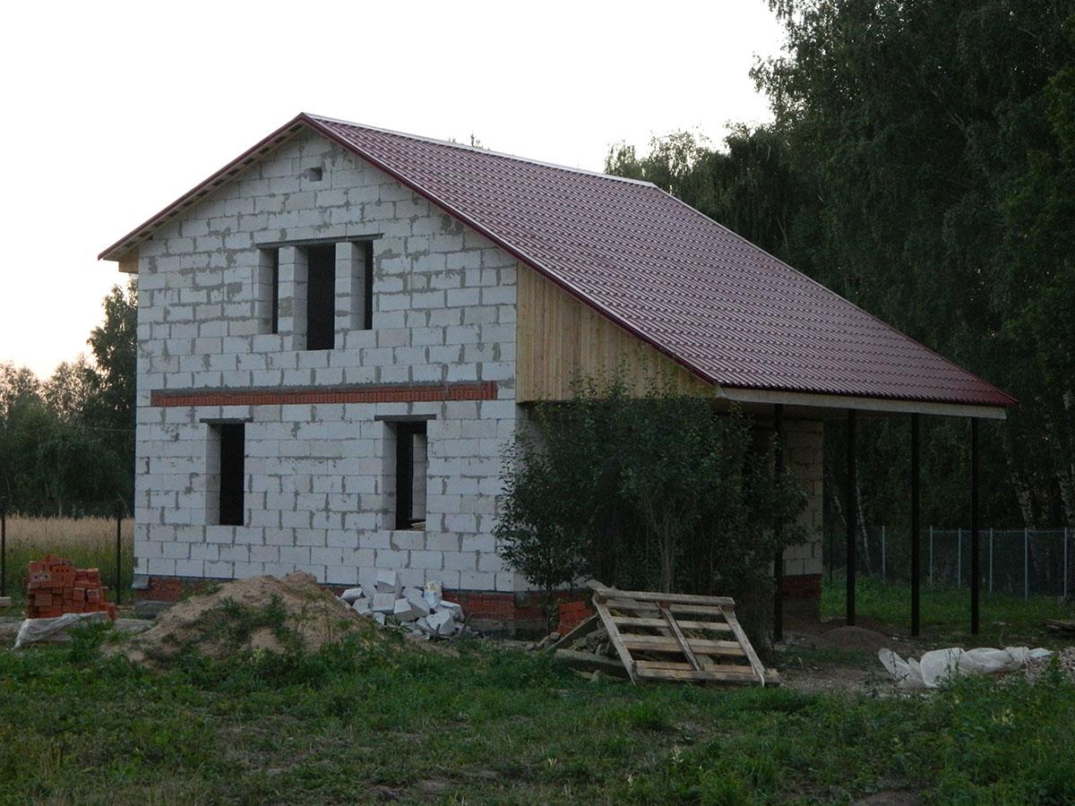 Как построить дачный домик из блоков своими руками фото 15